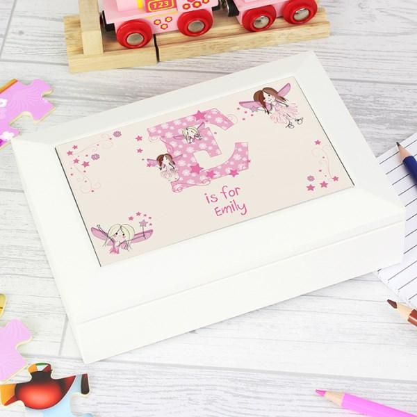 Fairy Letter White Jewellery Box