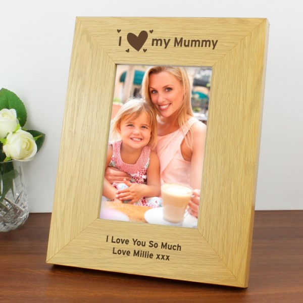 I Heart My 6x4 Wooden Photo Frame
